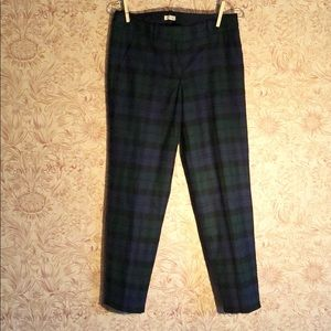 J. Crew wool plaid ankle pants holiday tartan 0